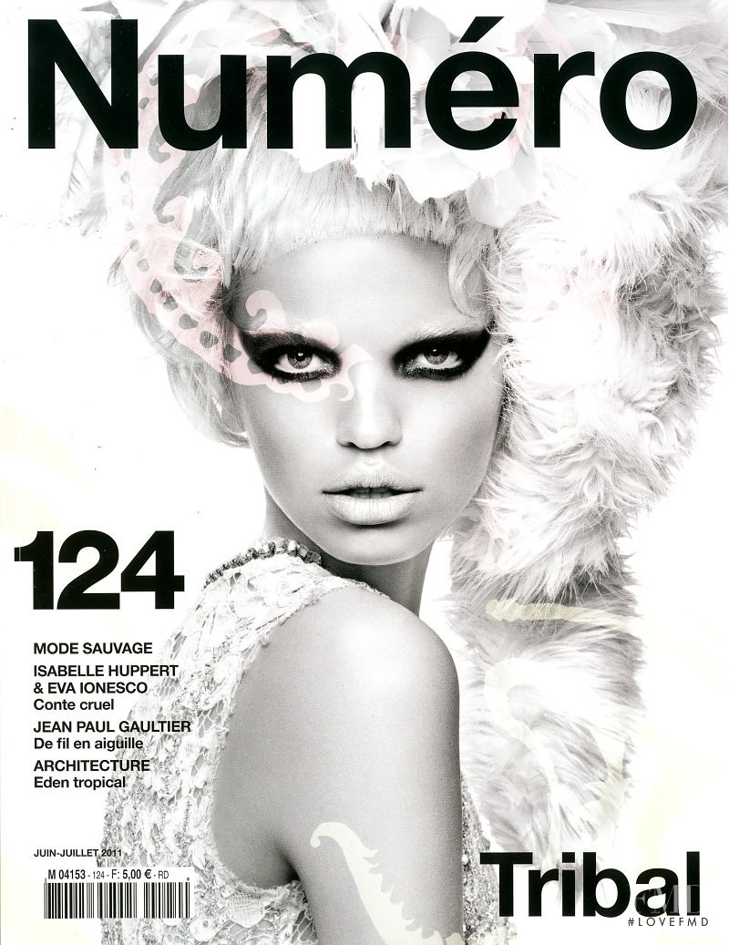 Daphne Groeneveld featured on the Numéro France cover from June 2011