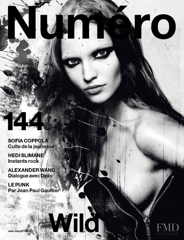 Sasha Luss featured on the Numéro France cover from June 2013