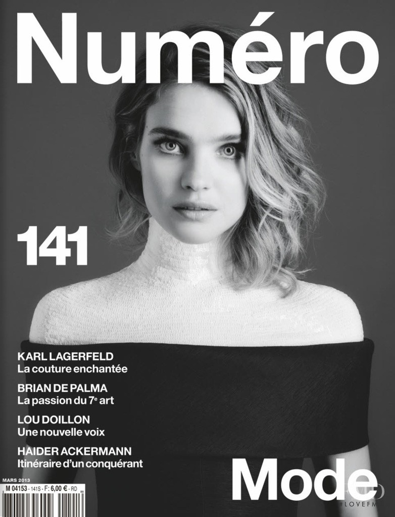 Natalia Vodianova featured on the Num�ro France cover from March 2013