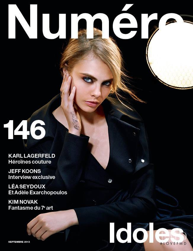 Cara Delevingne featured on the Numéro France cover from September 2013