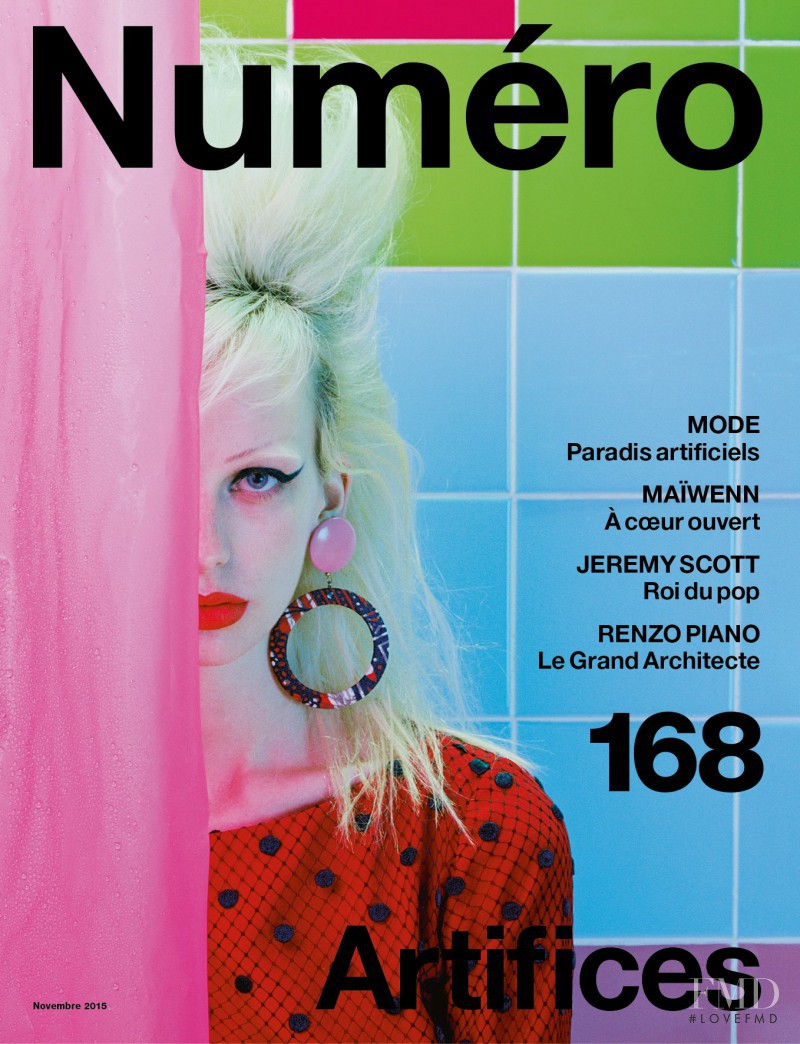 Lili Sumner featured on the Numéro France cover from November 2015