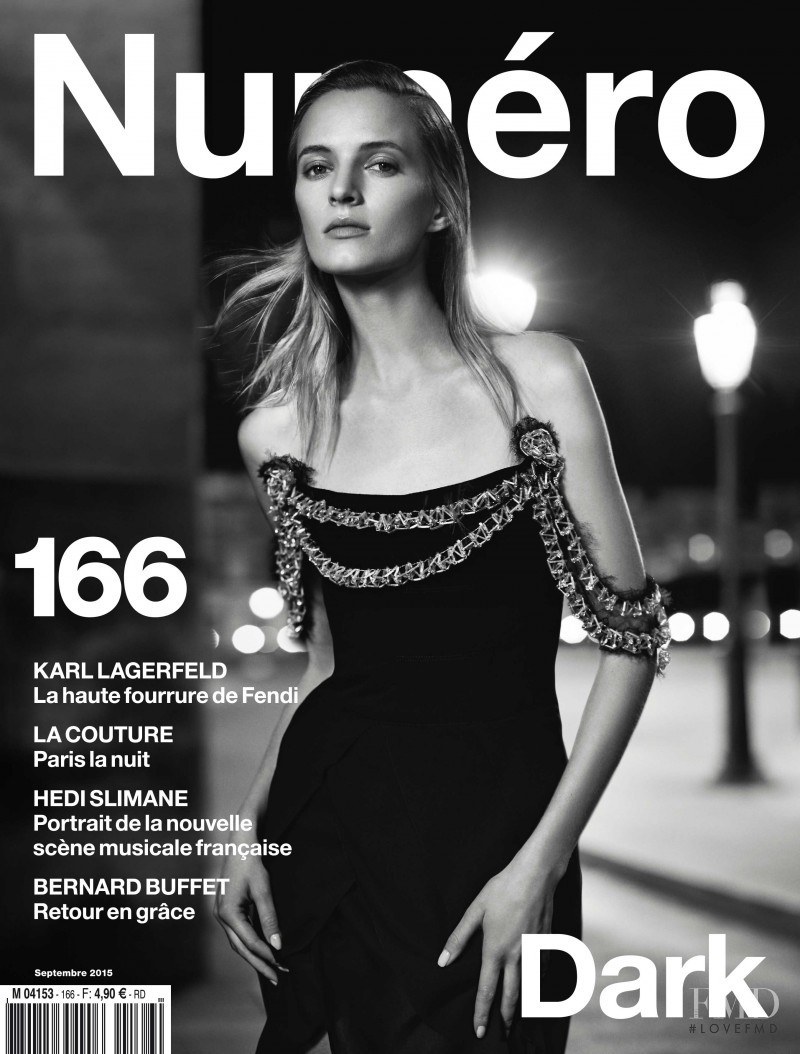 Daria Strokous featured on the Numéro France cover from September 2015