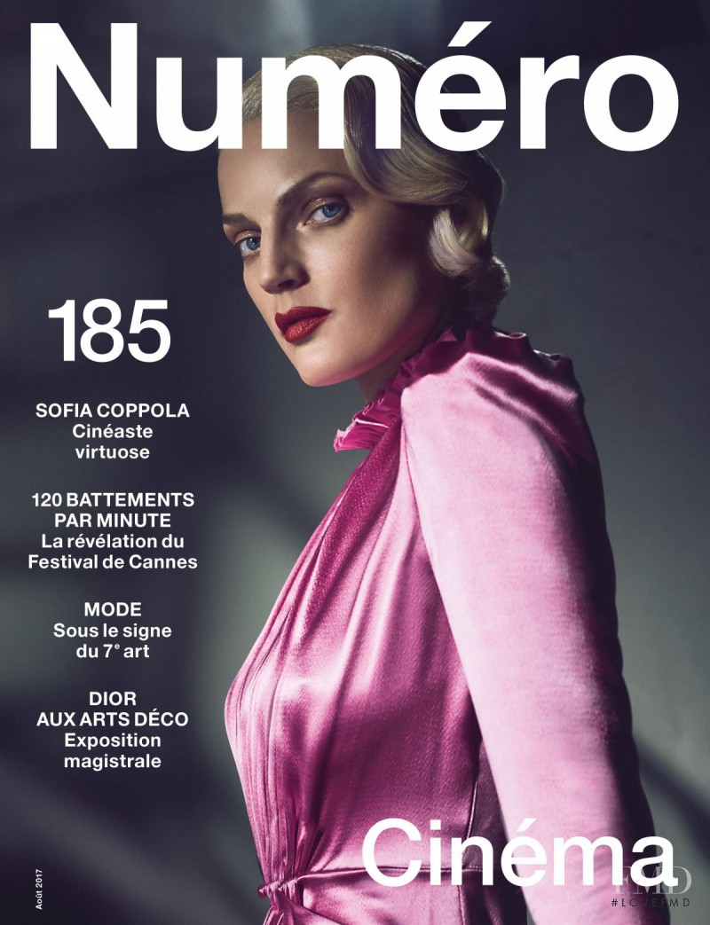 Guinevere van Seenus featured on the Num�ro France cover from August 2017