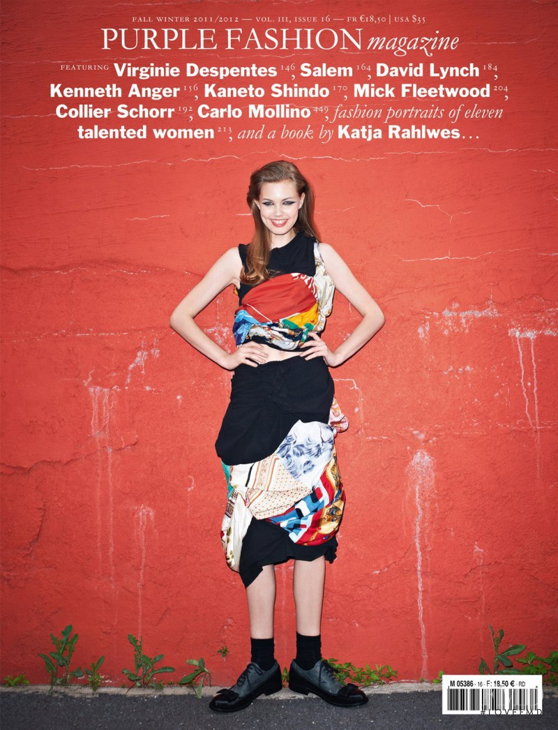 Lindsey Wixson featured on the Purple Fashion cover from September 2011