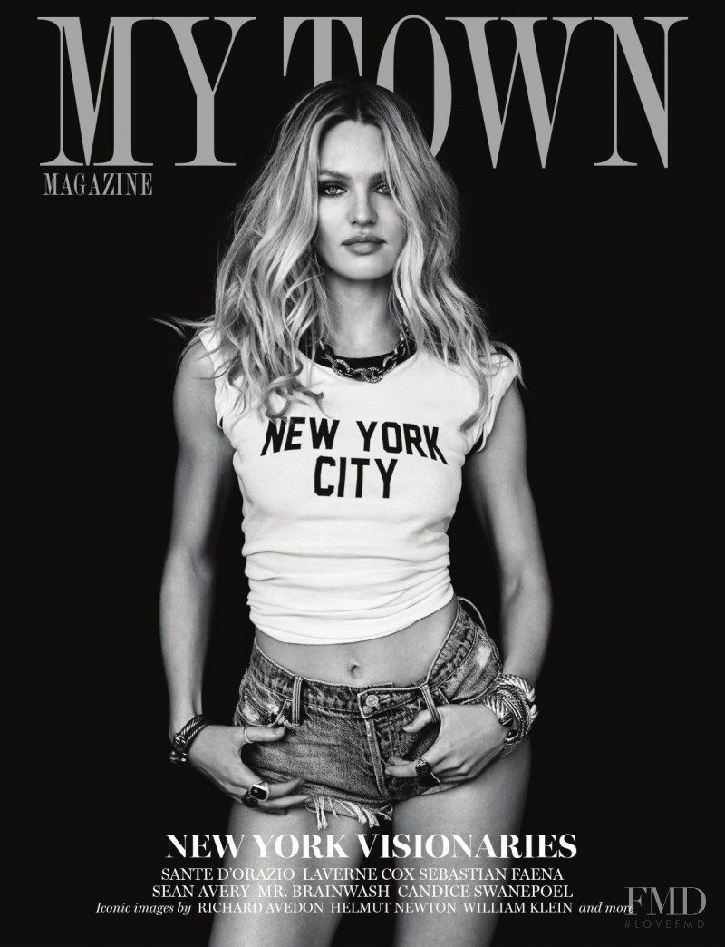 Candice Swanepoel featured on the My Town cover from September 2015