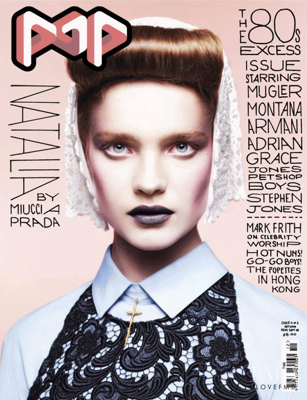 Natalia Vodianova featured on the Pop cover from September 2008