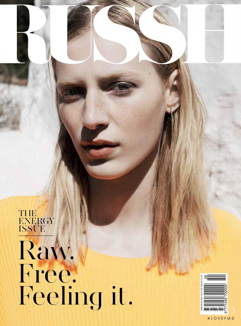 Julia Nobis featured on the Russh cover from April 2013