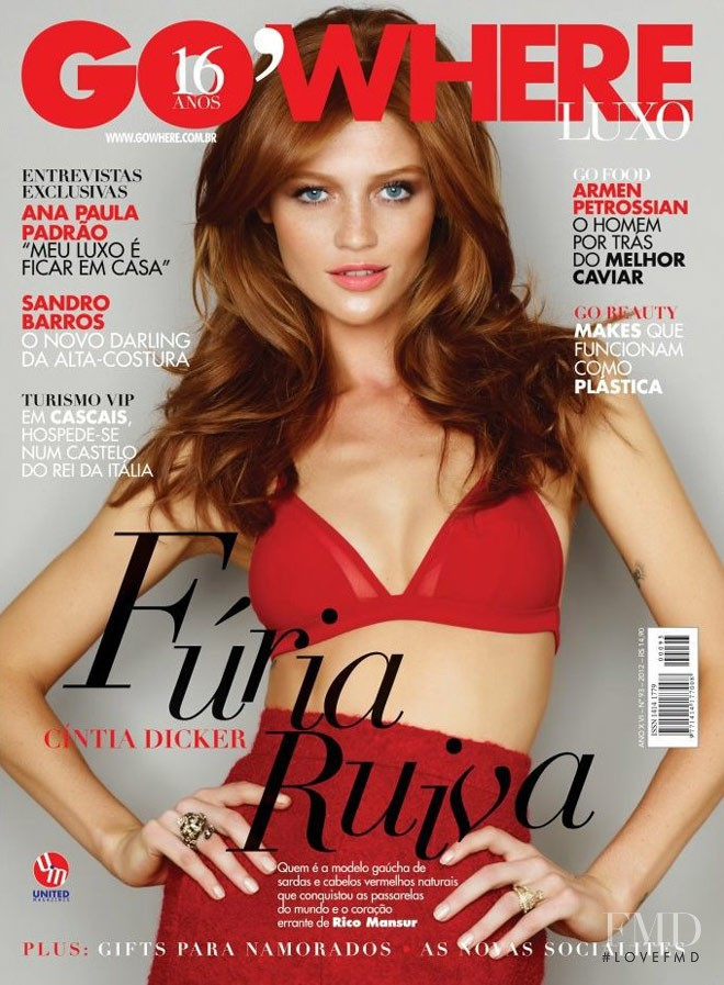 Cintia Dicker featured on the Go\'Where cover from June 2012