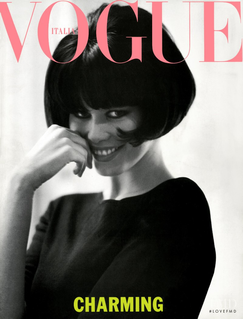 Claudia Schiffer featured on the Vogue Italy cover from March 1990