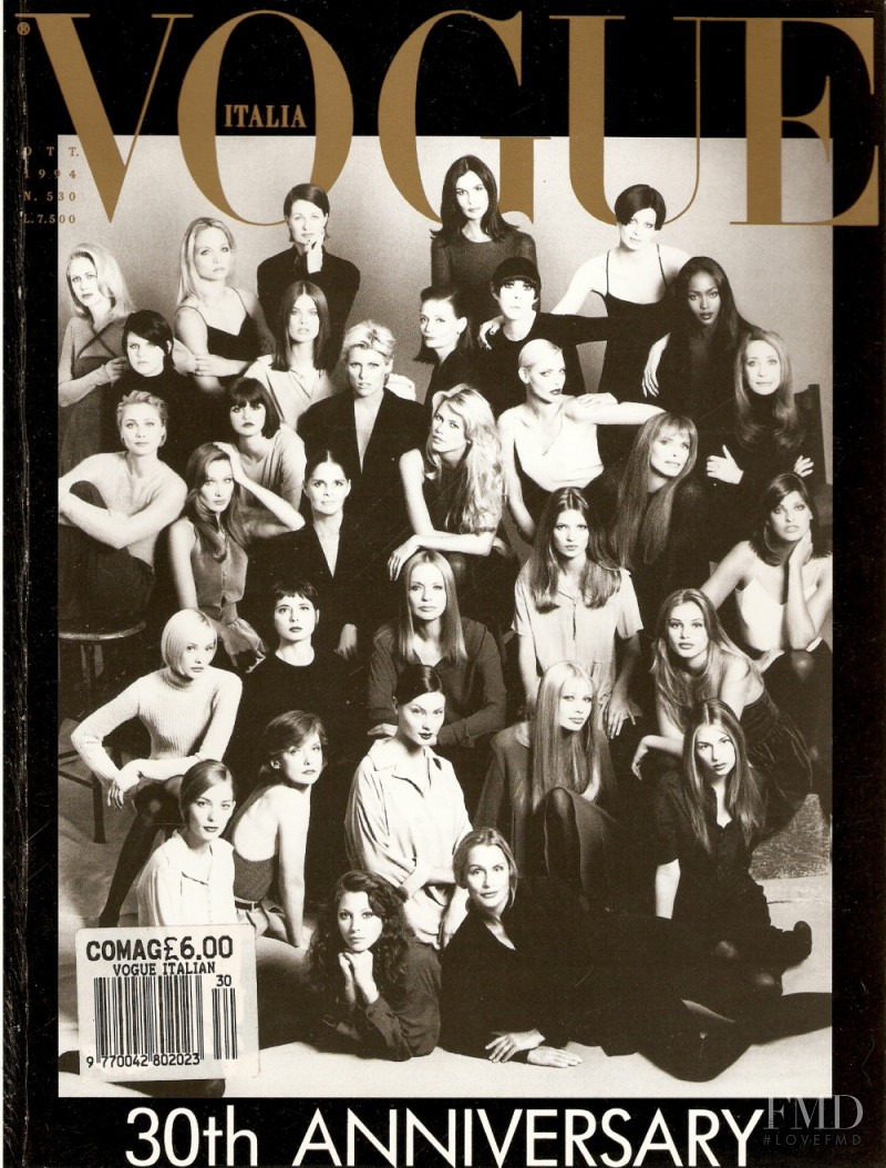 Sofia Coppola featured on the Vogue Italy cover from October 1994