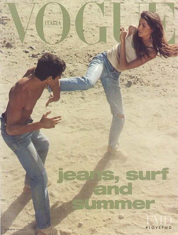 Gisele Bundchen featured on the Vogue Italy cover from June 1999