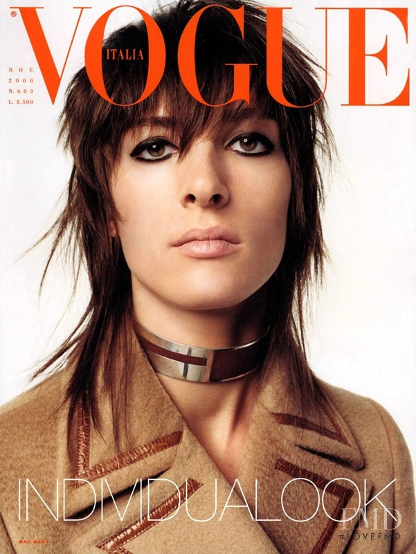 Charlotte Gainsbourg  featured on the Vogue Italy cover from November 2000