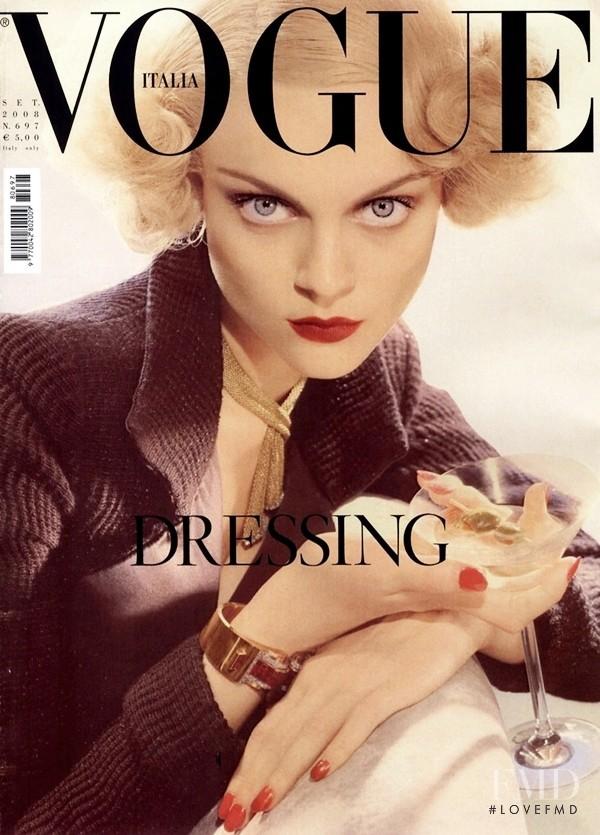 Viktoriya Sosonkina  featured on the Vogue Italy cover from September 2008
