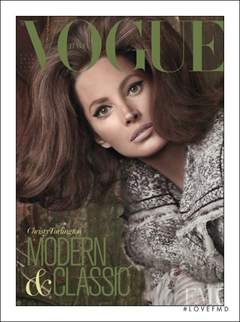 Christy Turlington featured on the Vogue Italy cover from July 2010