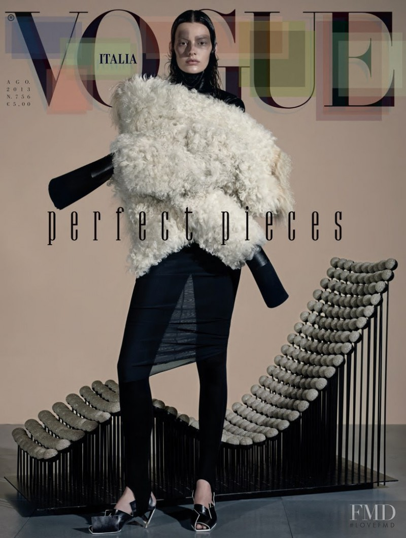 Amanda Murphy featured on the Vogue Italy cover from August 2013