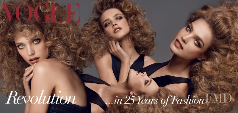 Natalia Vodianova featured on the Vogue Italy cover from July 2013