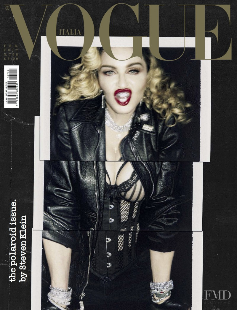 Madonna featured on the Vogue Italy cover from February 2017