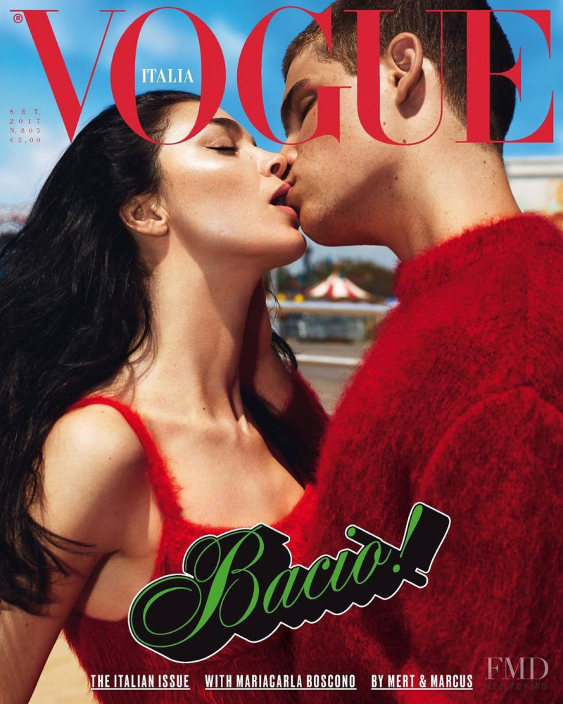 Mariacarla Boscono featured on the Vogue Italy cover from September 2017