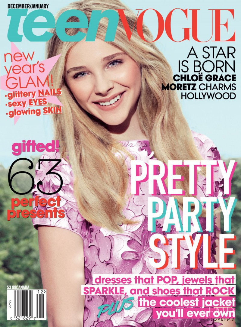 Vogue Usa Magazine Subscription: Cover Of Teen Vogue USA With Chloë Moretz, December 2011