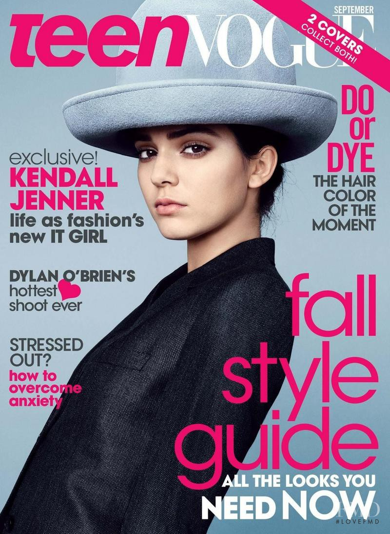 Kendall Jenner featured on the Teen Vogue USA cover from September 2014