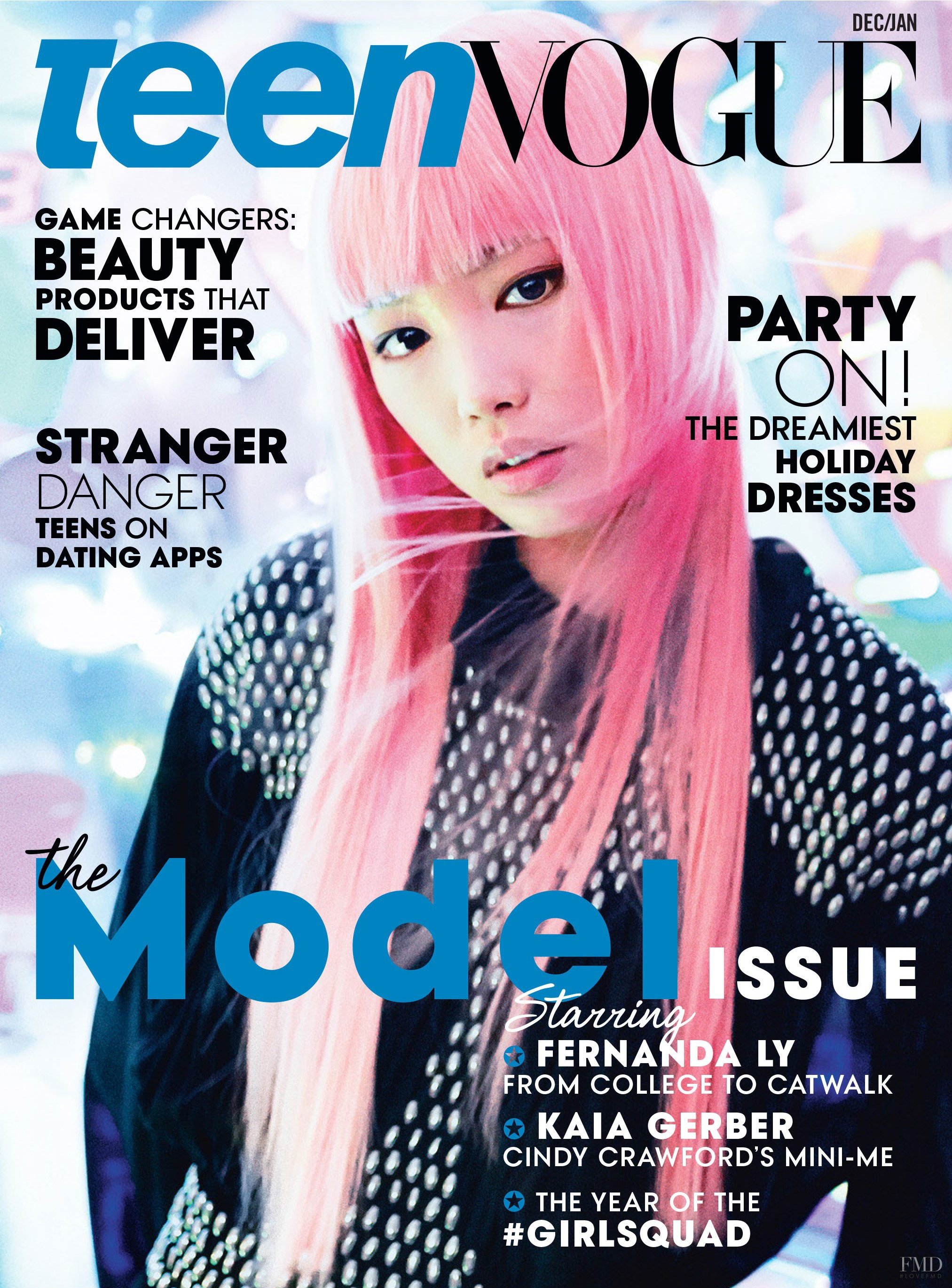 Vogue Usa Magazine Subscription: Cover Of Teen Vogue USA With Fernanda Hin Lin Ly, December