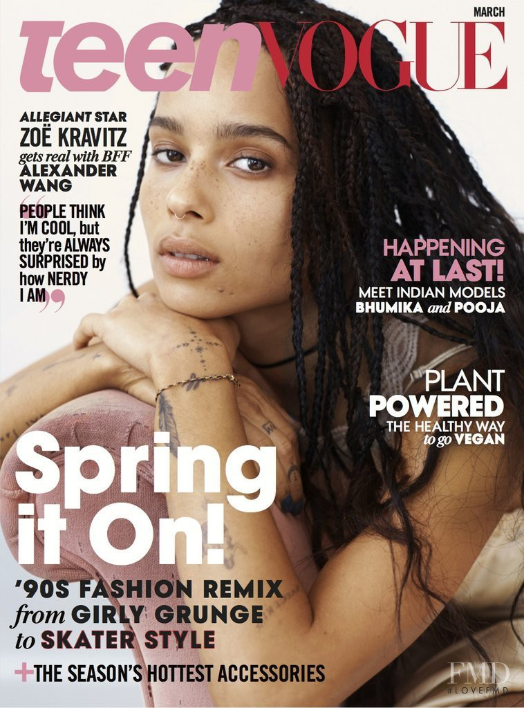 Vogue Usa Magazine Subscription: Cover Of Teen Vogue USA With Zoe Kravitz, March 2016 (ID