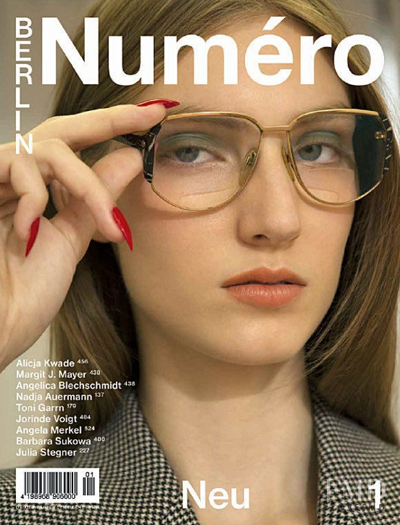 Lisa Helene Kramer featured on the Numéro Berlin cover from January 2017