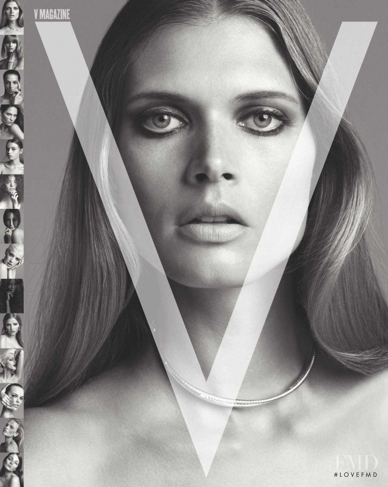 Malgosia Bela featured on the V Magazine cover from September 2008