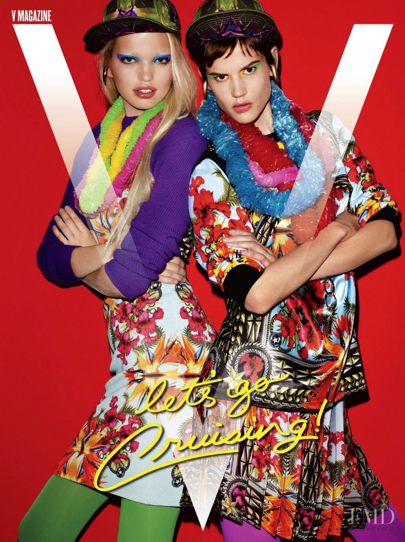 Saskia de Brauw, Daphne Groeneveld featured on the V Magazine cover from December 2011