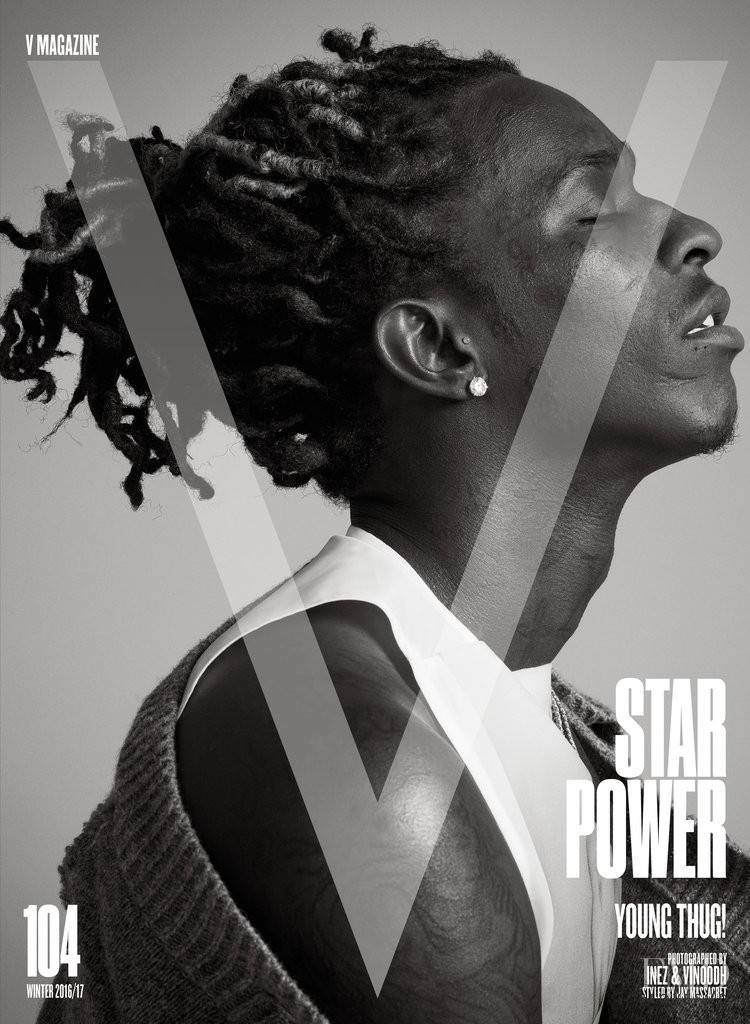 featured on the V Magazine cover from December 2016