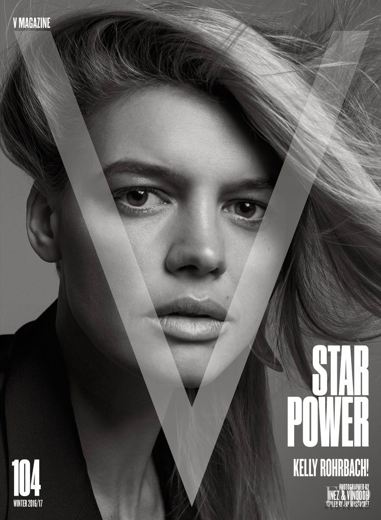Kelly Rohrbach featured on the V Magazine cover from December 2016