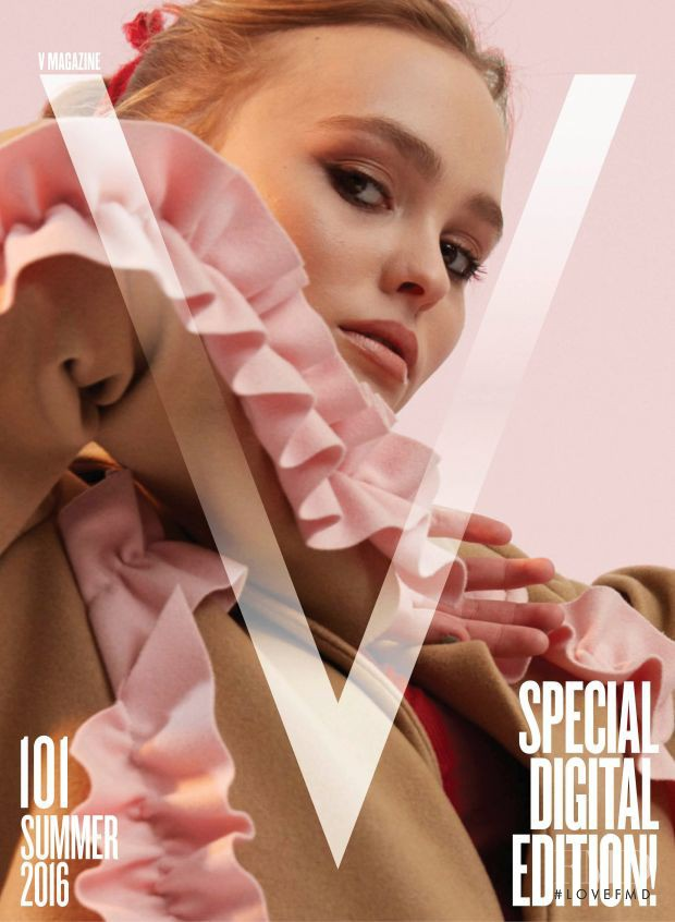 Lily-Rose Depp featured on the V Magazine cover from June 2016