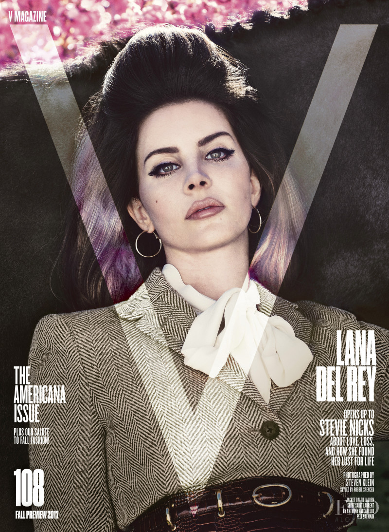Lana Del Rey featured on the V Magazine cover from September 2017