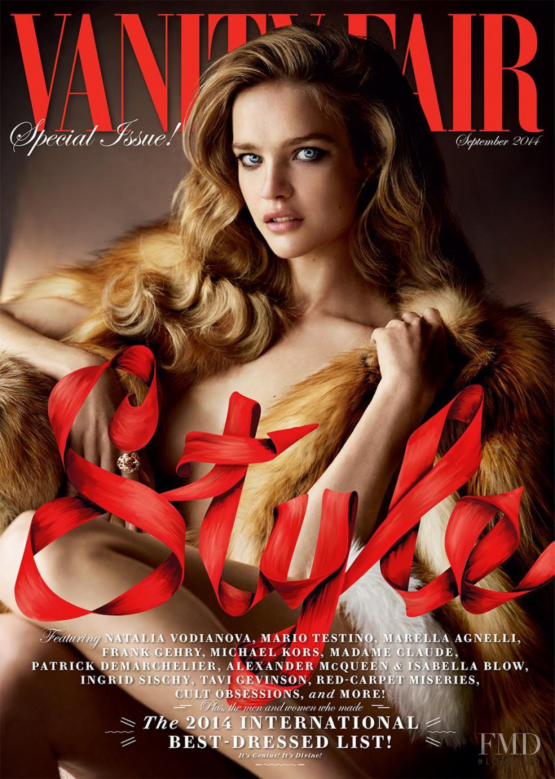 Natalia Vodianova featured on the Vanity Fair USA cover from September 2014