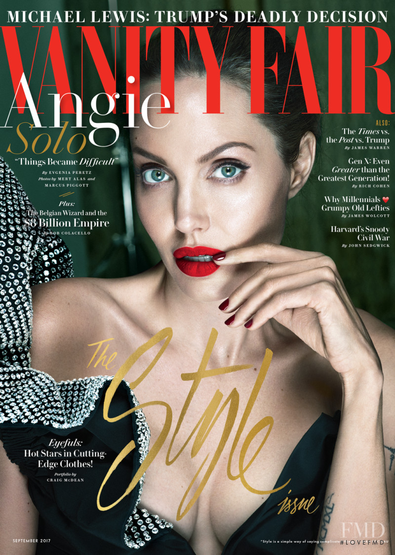 Angelia Jolie featured on the Vanity Fair USA cover from September 2017