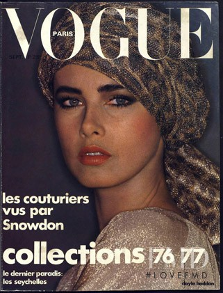 Dayle Haddon featured on the Vogue Paris cover from September 1976