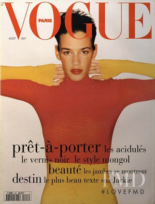 Shiraz Tal featured on the Vogue Paris cover from August 1994