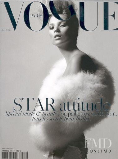 Kate Moss featured on the Vogue Paris cover from March 2004
