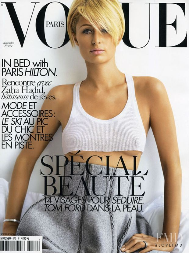 Paris Hilton featured on the Vogue Paris cover from November 2006