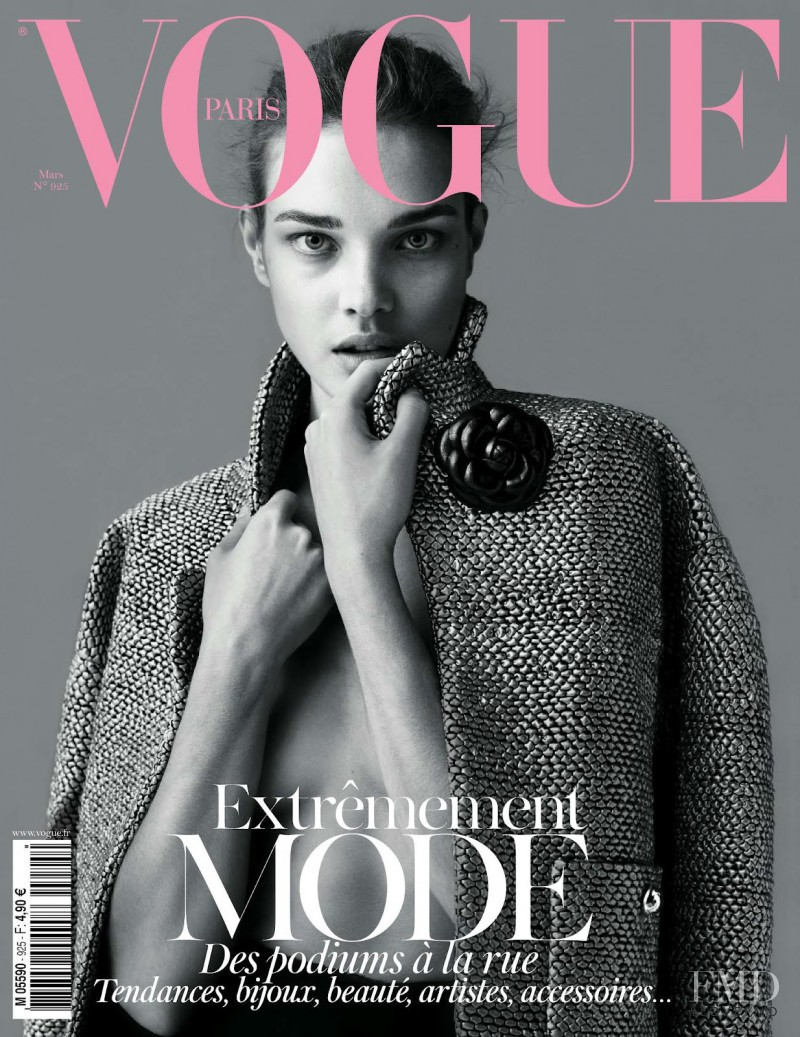 Natalia Vodianova featured on the Vogue Paris cover from March 2012