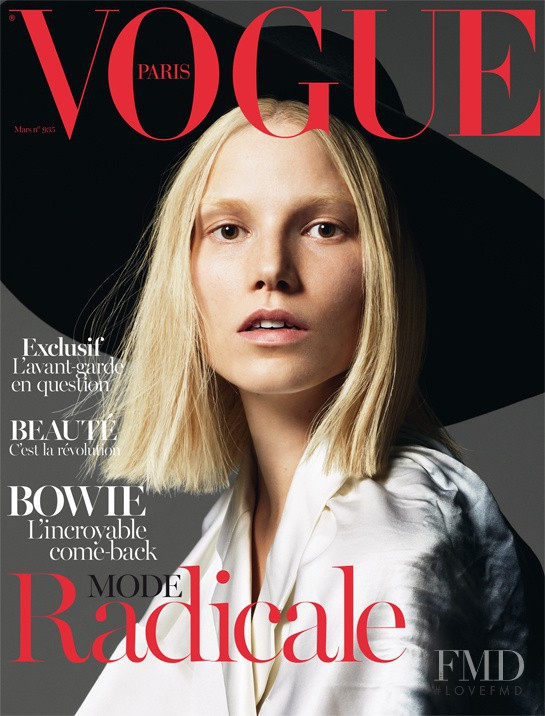 Suvi Koponen featured on the Vogue Paris cover from March 2013