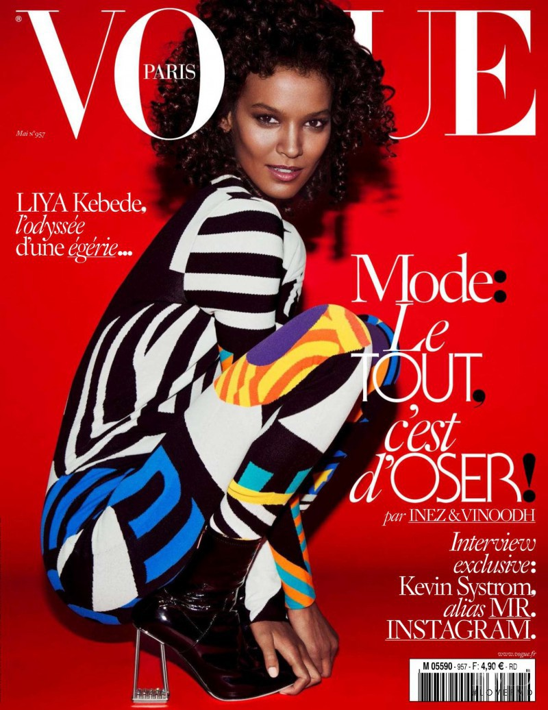 Liya Kebede featured on the Vogue Paris cover from May 2015