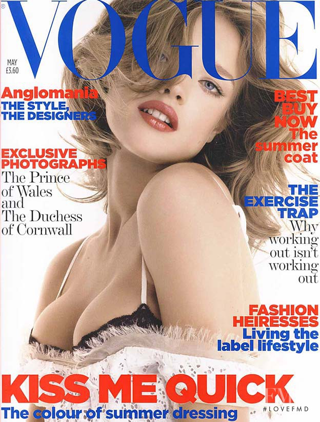 Natalia Vodianova featured on the Vogue UK cover from May 2006