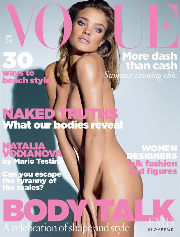 Natalia Vodianova featured on the Vogue UK cover from June 2009
