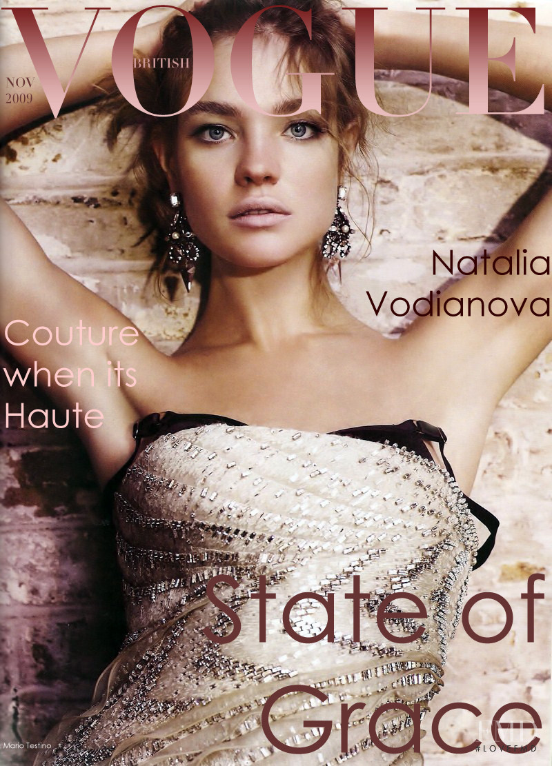 Natalia Vodianova featured on the Vogue UK cover from November 2009