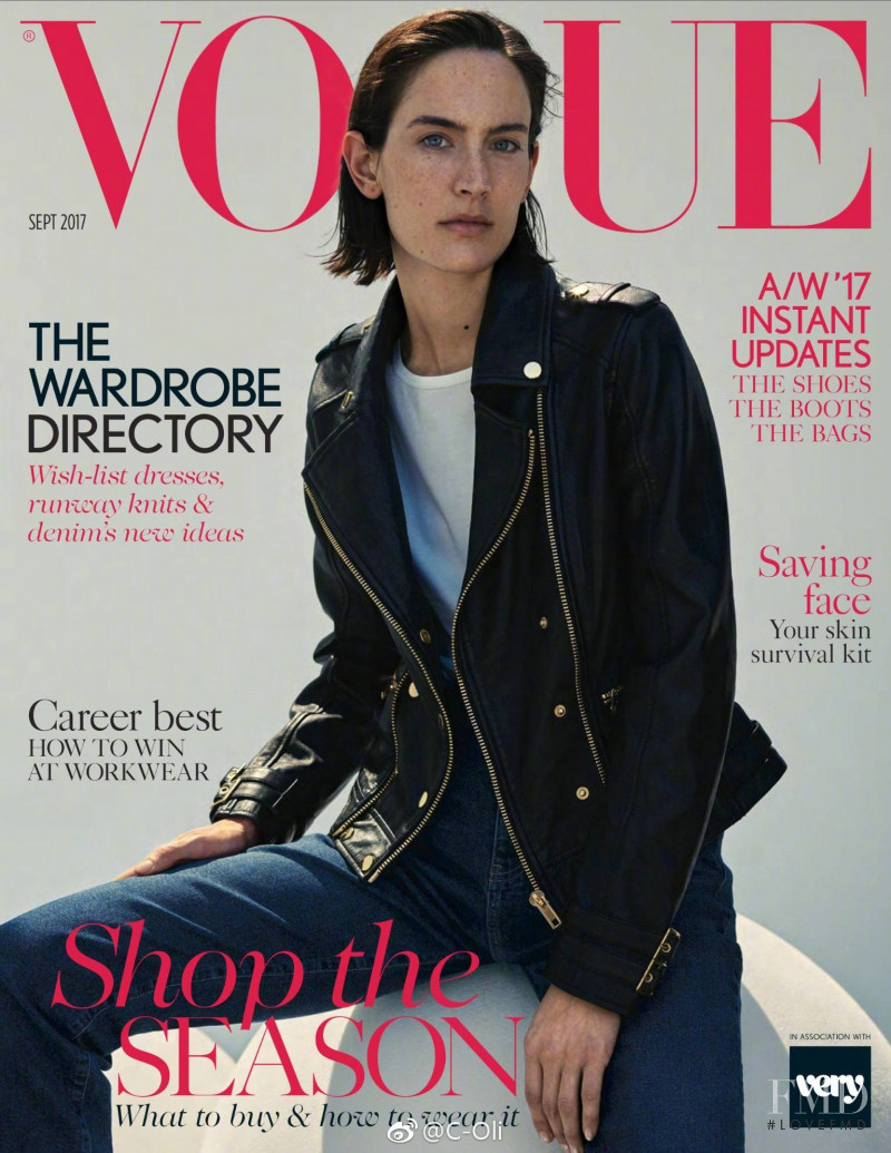 Jane Mosesley  featured on the Vogue UK cover from September 2017