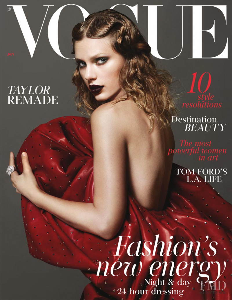 Taylor Swift featured on the Vogue UK cover from January 2018