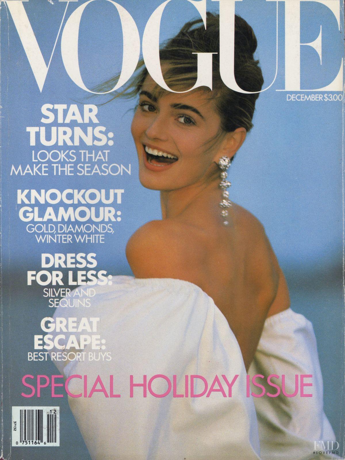 Vogue Usa Magazine Subscription: Cover Of Vogue USA With Paulina Porizkova, December 1989