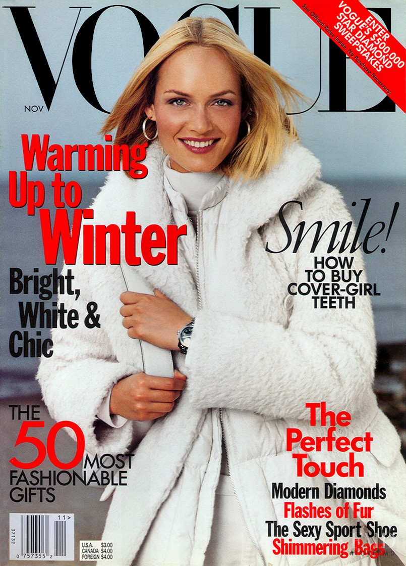 Vogue Usa Magazine Subscription: Cover Of Vogue USA With Amber Valletta, November 1998 (ID