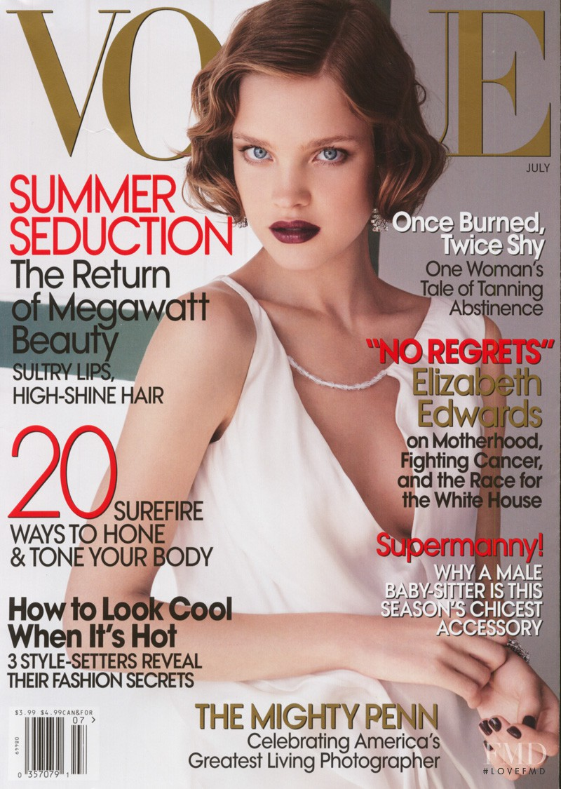 Natalia Vodianova featured on the Vogue USA cover from July 2007